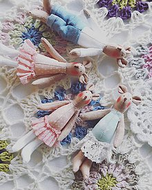 Hračky - Mini rodinka v ružovo mentolovej - 9108452_