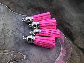 Polotovary - Strapčeky  - pár (Neonová ružová) - 9106722_