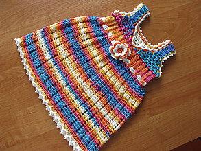 Detské oblečenie - Háčkované šaty - 9109516_