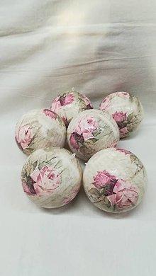 Dekorácie - vianočná gule - ruže - 9106724_