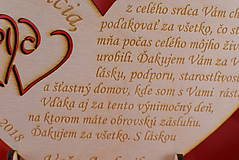 Darčeky pre svadobčanov - Poďakovanie rodičom drevené srdiečko  46 - 9108293_
