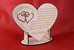 Darčeky pre svadobčanov - Poďakovanie rodičom drevené srdiečko  46 - 9108294_