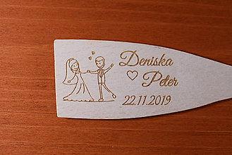 Darčeky pre svadobčanov - Drevená vareška gravírovaná vypaľovaná darček svadobčanom 3 - 9106967_
