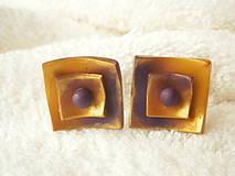 Náušnice - Náušnice z polyméru, dva štvorčeky 1 - 9106856_