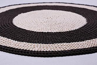 Úžitkový textil - Háčkovaný koberec - hnedé odtiene - 9109355_