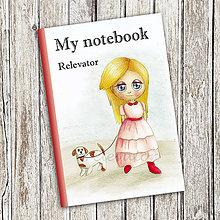 Papiernictvo - Venčenie psa - dievčenský zápisník (5) - 9111094_