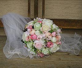 Kytice pre nevestu - svadobná kytica...svieža - 9110948_