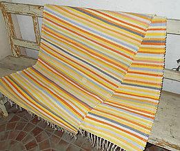 Úžitkový textil - pestro žltý koberec - 9113128_