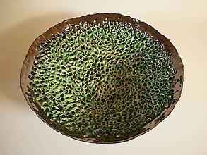 Nádoby - Veľká machovo zelená misa na ovocie - 9115266_
