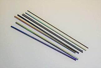 Suroviny - Sklenené tyčky Stringers dichroické tmavé, zn. Bullseye - 9112759_
