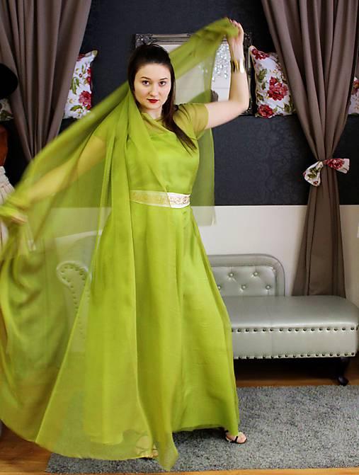 Éterické zelené šaty   gk - SAShE.sk - Handmade Šaty 6caaa481820