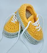 Topánočky - Háčkované tenisky - 9112323_