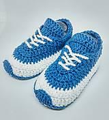 Topánočky - Háčkované tenisky (Žltá) - 9112360_