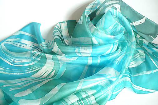 718f97f7638 Mořské vlny. Hedvábný šátek.   jena.silk - SAShE.sk - Handmade Šatky