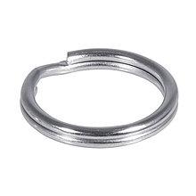 Komponenty - Kľúčový krúžok 15mm ø, platinum – 100 ks - 9113247_