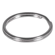 Komponenty - Kľúčový krúžok 20mm ø, platinum – 100 ks - 9113325_
