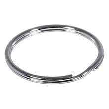 Komponenty - Kľúčový krúžok 30mm ø, platinum – 50 ks - 9113378_