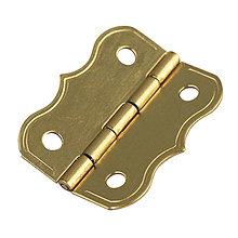 Komponenty - Dekoračné pánty, zlatý 25x20 mm – 16 ks - 9113599_