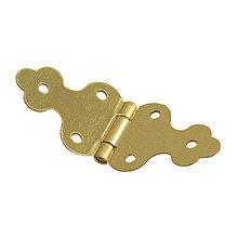 Komponenty - Dekoračné pánty, zlatý 10x30 mm – 16 ks - 9113702_