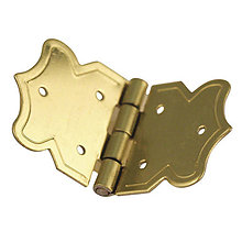 Komponenty - Dekoračné pánty, zlatý 20x37 mm – 16 ks - 9113712_