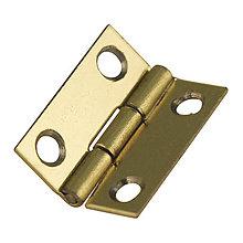 Komponenty - Pánty, zlatý 15x12 mm – 16 ks - 9113740_