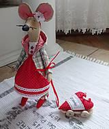 Bábiky - Červená myška - 9112210_