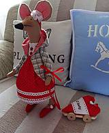 Bábiky - Červená myška - 9112211_