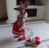Bábiky - Červená myška - 9112212_