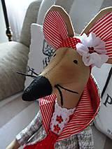 Bábiky - Červená myška - 9112214_