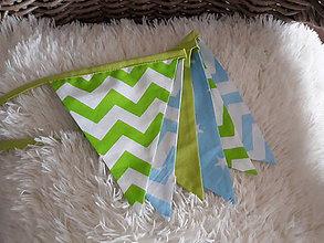 Detské doplnky - Vlajky modro-zelené - 9113254_