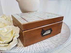 Krabičky - Drevená krabička - 9113654_