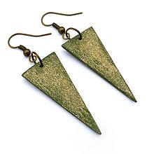 Náušnice - Visiace trojuholníky 1 - 9113653_