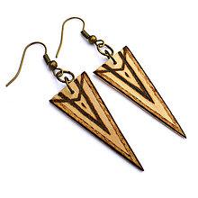 Náušnice - Visiace trojuholníky 3 - 9114001_