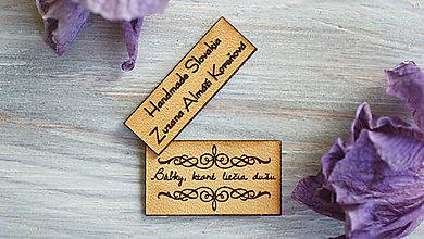 Drobnosti - Kožené štítky na želanie 50 ks zdarma - 9113620_
