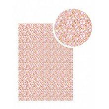 Textil - Samolepiaca látka Ružová s bielymi kvet - 9113995_