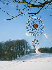 Dekorácie - Lapač snov - Biela labuť - 9114282_