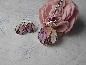 Sady šperkov - Fialkový Paríž - 9113551_