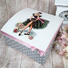 Krabičky - Šperkovnica baletka - 9114835_