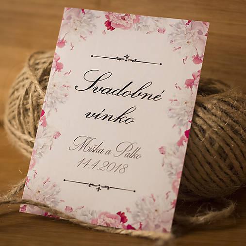 951c38334 Etiketa na svadobné vínko / cedulkovo - SAShE.sk - Handmade Darčeky ...