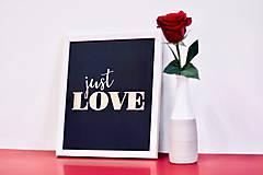 Obrazy - Just Love - black - 9115776_