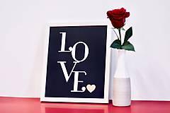 Obrazy - Love - black - 9115780_