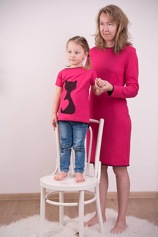 4560ca7f061 Cyklámenovo-čierne šaty   miracles.style - SAShE.sk - Handmade Šaty