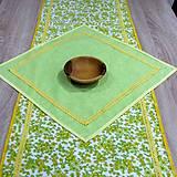 Úžitkový textil - Jar klope na dvere - obrus štvorec 44x44 - 9113487_