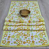 Úžitkový textil - Jar klope na dvere - stredový obrus 127x40 - 9113557_
