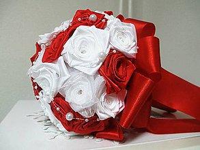 Kytice pre nevestu - svadobná kytica v červenom - 9111719_