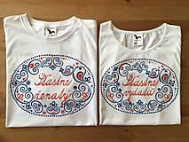 Maľované tričká s ľudovým motívom a nápismi