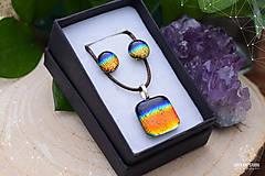 Sady šperkov - Dúhová sada sklenených šperkov II. - 9112449_