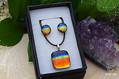 Sady šperkov - Dúhová sada sklenených šperkov II. - 9112452_