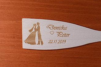 Darčeky pre svadobčanov - Drevená vareška gravírovaná vypaľovaná darček svadobčanom 5 - 9111838_