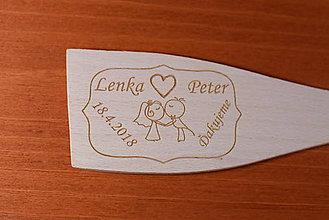 Darčeky pre svadobčanov - Drevená vareška gravírovaná vypaľovaná darček svadobčanom 6 - 9111840_